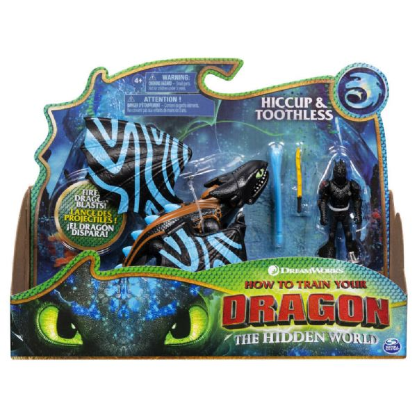 Dragons Hiccup og Toothless figur