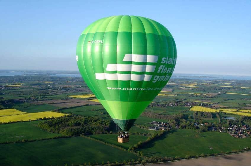 Ballonflyvning over Flensborg
