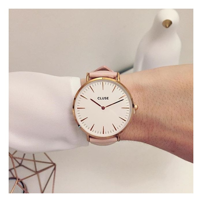 CLUSE - La Boheme Rose Gold White/Pink CL18014