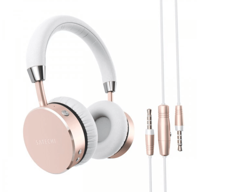 SATECHI WIRELESS ON-EAR ALUMINIUM HEADSET - TRÅDLØSE HOVEDTELEFONER - ROSE GOLD