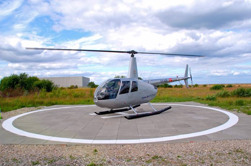 Privat helikoptertur over Roskilde med Danish Fly