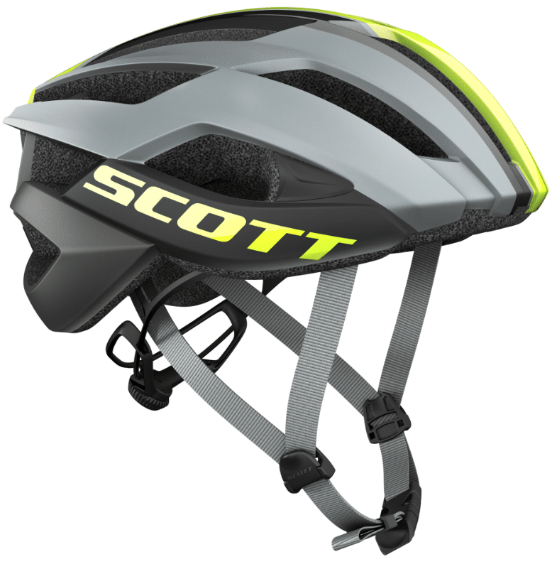 Scott ARX Plus Road Helmet, Grey/Yellow