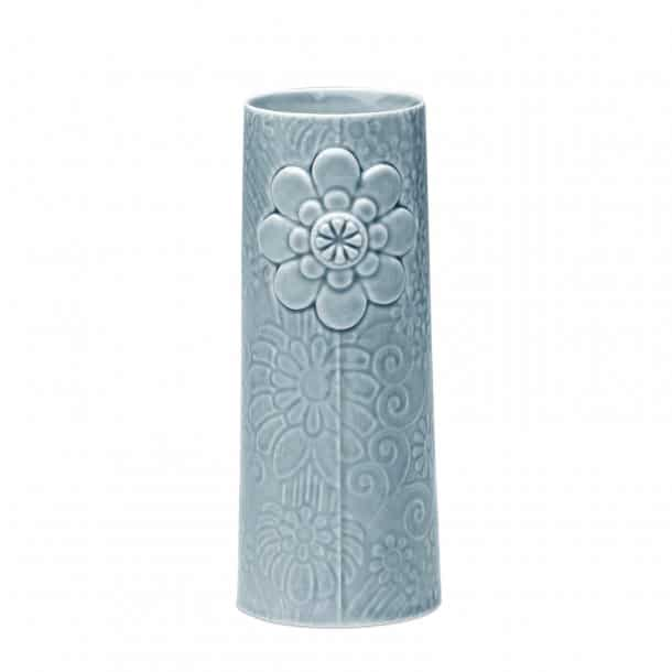 Finnsdottir Pipanella flower vase - big blue grey