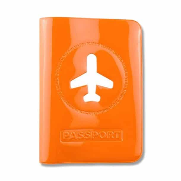 Passport cover - orange