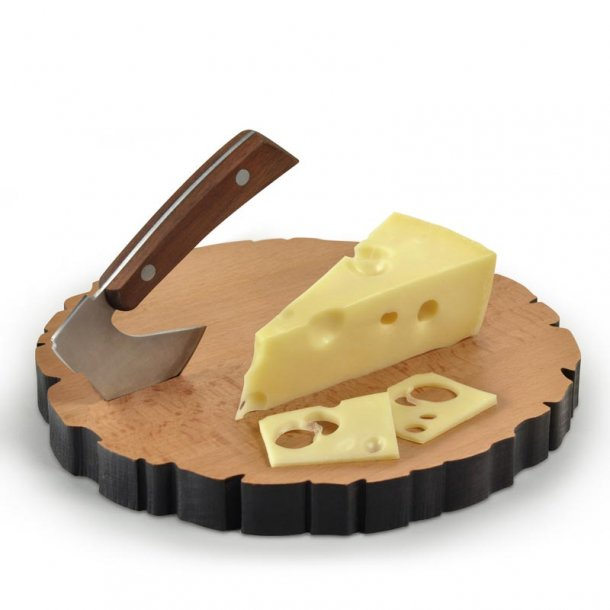 Ostebræt med kniv - Cheese Log
